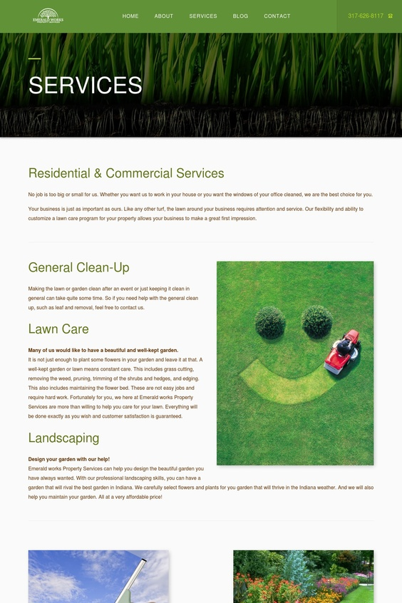 Emerald Works - Services Page