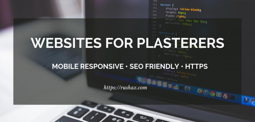 Websites built for plasterers